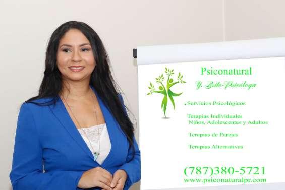 Psicóloga, terapias psicológicas